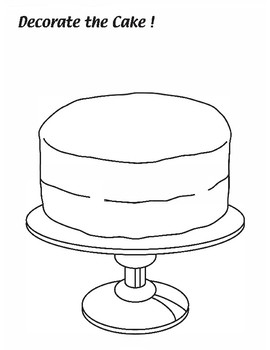 Decorate the Cake Coloring Worksheet by Maple Leaf