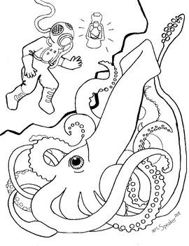 squid coloring # 32