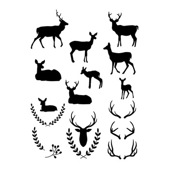 deer clipart white deer