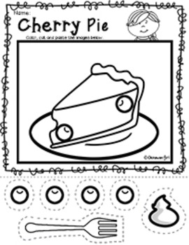 Scissor Skills: Color, Cut and Paste Delicious Desserts