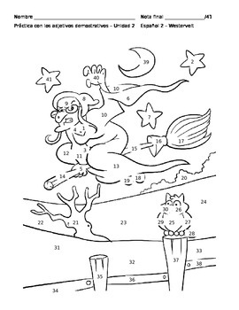 Demonstrative Adjectives Coloring Sheet by Jessica