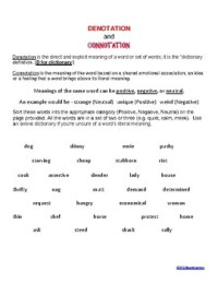 Denotation and Connotation Activity by AlwaysLearning   TpT