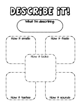 five senses diagram painless wiring 10202 describe it graphic organizer by mrs herrick tpt
