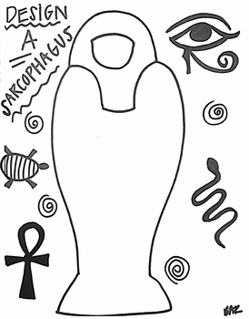 Sarcophagus Template Worksheets Teaching Resources Tpt