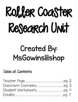 Design A Roller Coaster Worksheet