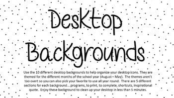Cute Desktop Wallpaper Teacher Desktop Background Organization By Red Stick Slp Tpt