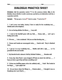 Dialogue Tags and End Punctuation Practice... by H Shah ...