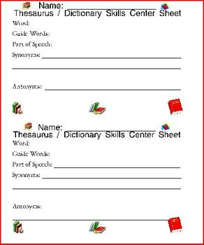 Dictionary Skills Practice Templates For All Words / Lists by Brooke Beverly