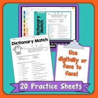 Dictionary Skills Printables by Rachel Lynette