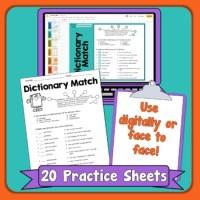 Dictionary Skills Printables by Rachel Lynette | TpT