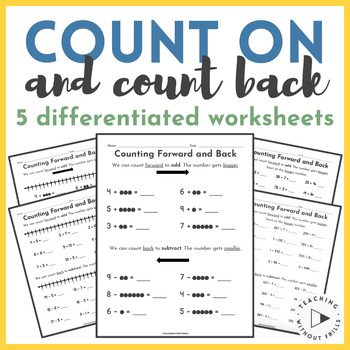 Differentiated Counting On and Counting Back to Add and