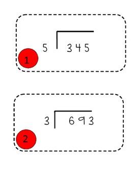 Differentiated Division Scavenger Hunt (Common Core
