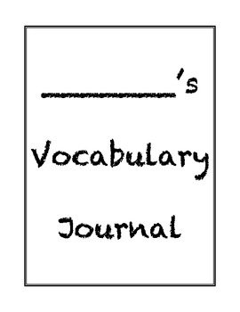 Differentiated Vocabulary Journal Template: Handwriting