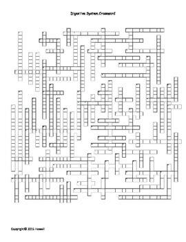 Digestive System Crossword by Everything Science and