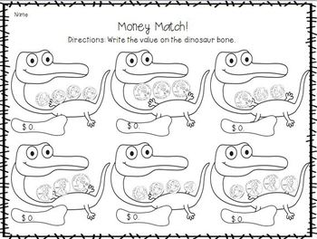 Diggin' for Dinosaurs! (Literacy and Math Activities) by