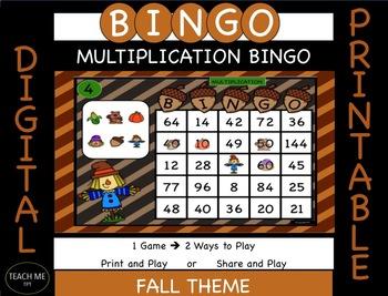 digital and printable multiplication