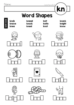 Digraph KN: Phonics Word Work {Multiple Phonograms} by