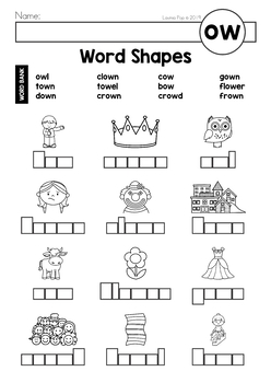 Digraph / Vowel Team OW: Phonics Word Work {Multiple