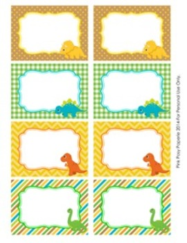 Dinosaur Bin Tag Labels By Pink Posy Paperie Teachers