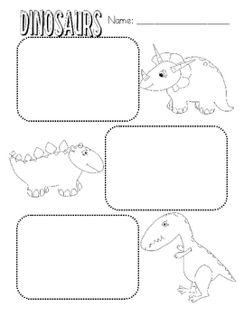 Dinosaur Facts Graphic Organizer by Elementary Education