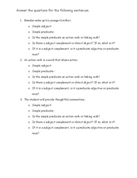 Subject Complement Worksheet : subject, complement, worksheet, Direct, Object, Subject, Complement, Worksheet, Sarah, Gordon