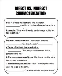 Direct vs. Indirect Characterization Guided Notes by ...