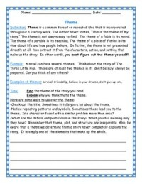 Discovering the Theme: worksheet for any novel by Teach by ...