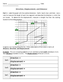 Distance And Displacement Worksheet : distance, displacement, worksheet, Distance, Displacement, Worksheet, Answer, Promotiontablecovers