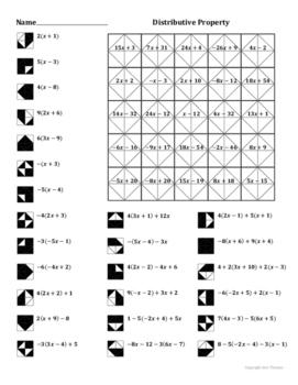 Distributive Property Rectangles Worksheet. free math