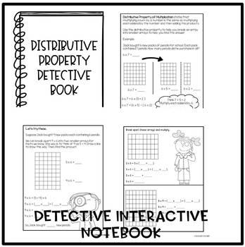 Distributive Property Detective Bundle by Teacher's Gumbo