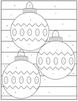 Distributive Notes Property Coloring Page with Integers by