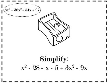 Polynomial Operations Review Activity {Operations with