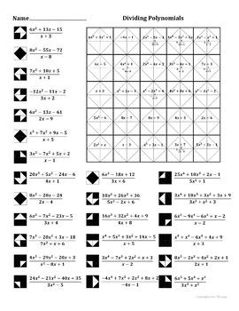 34 Algebra 2 Dividing Polynomials Worksheet Answers