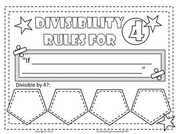 Divisibility Rules Activity FREE by Everything for a
