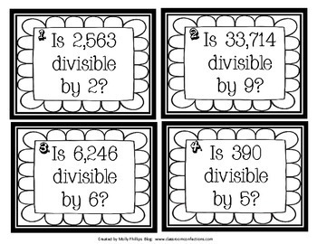 Division Game: Divisibility Rules: Math Game for 4th Grade