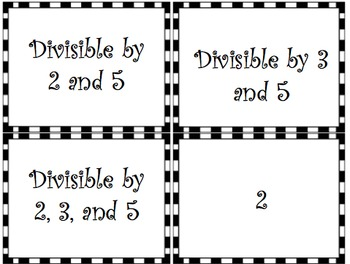 Divisibility Rules Sorting Activity by Tayler's Teachable