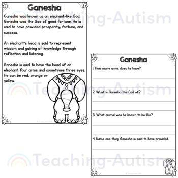 Diwali Reading Comprehension Passages and Questions by