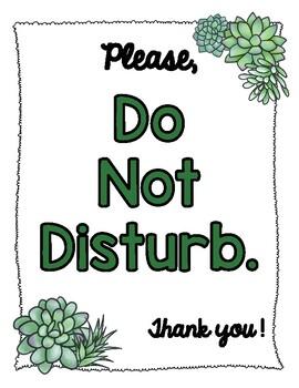 Please Do Not Disturb Sign Printable : please, disturb, printable, Disturb, Succulent, House, Theme, Klooster's, Kinders