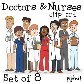 doctors and nurses clipart hospital