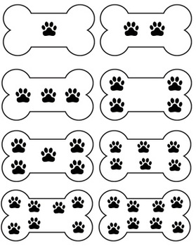 Number Match File Folder Game (DOG THEME) by Valerie Downs