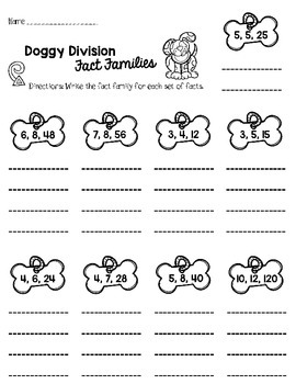 Doggie Division: Learning Division Facts up to 12 by