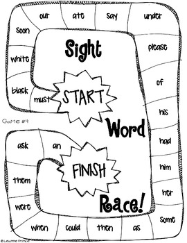 Dolch Sight Word Board Games! {all 220 sight words} by