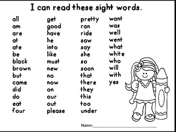 Dolch Sight Word Slides and Ladders Games For Grade 1 by