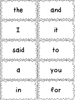 Dolch Sight Words Flash Cards- Preprimer to 3rd Grade by