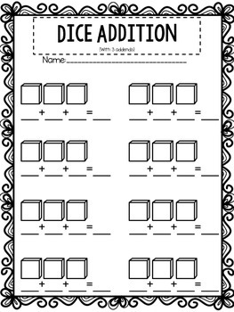 Blank Domino and Dice Recording Sheets {Addition