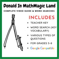 Donald in Mathmagic Land - Video Worksheet & Word Search ...
