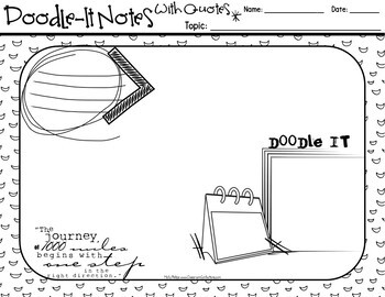 Doodle-It Notes: Templates: