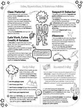 Doodles Syllabus Template #11 (GOOGLE DRAWINGS!) by