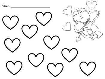 Dot a Heart- Valentines Open-Ended Worksheets by