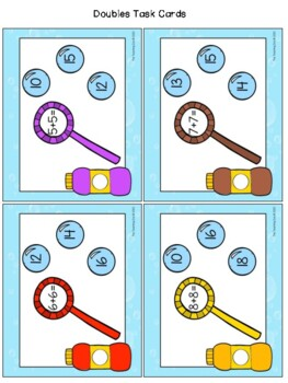 Double Bubble! Doubles Facts Math Fun Learning Activity
